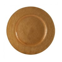 10 Strawberry Street CPR-340 13 inch Metallic Copper Glass Charger Plate - 4/Case