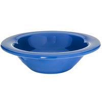 Carlisle 4304214 Durus 4 1/2 oz. Ocean Blue Rimmed Melamine Fruit / Monkey Dish 48 / Case