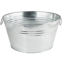 American Metalcraft GPTUB20 20 inch x 15 inch x 11 inch Oval Galvanized Metal Metal Tub