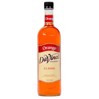 DaVinci Gourmet 750 mL Orange Classic Coffee Flavoring / Fruit Syrup