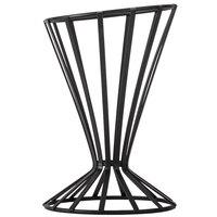 American Metalcraft FWB4 Flat Coil Wrought Iron Slanted Cone Basket - 4 1/2 inch x 7 1/2 inch