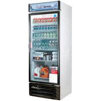 Turbo Air TGM-22RV White 29 inch Single Glass Door Merchandising Refrigerator - 22 Cu. Ft.