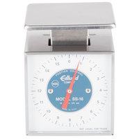 Edlund SS-16 Compact 16 oz. Mechanical Portion Scale with 3 1/2 inch x 4 1/2 inch Platform