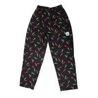Chef Revival P040PP Size M Pepper Print Pattern EZ Fit Chef Pants - 100% Cotton
