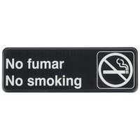 Tablecraft 394589 9 inch x 3 inch Black and White No Fumar / No Smoking Sign
