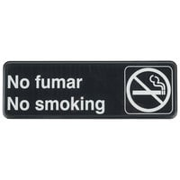 Tablecraft 394589 No Fumar / No Smoking Sign - Black and White, 9 inch x 3 inch