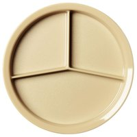 Cambro HK93BCW133 Beige Camwear Heat Keeper Base Plate 3 Compartment - 9 1/2 inch 12 / Case