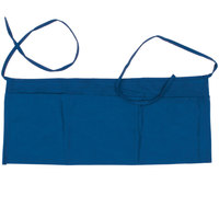Choice 24 inch x 12 inch Royal Blue Front of the House Waist Apron