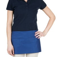 """Choice 12"""" x 24"""" Royal Blue Front of the House Waist Apron"""