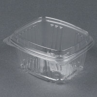 Genpak AD16F 5 3/8 inch x 4 1/2 inch x 3 inch 16 oz. Clear Hinged Deli Container with High Dome Lid - 200 / Case