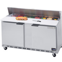 Beverage-Air SPE60-08 60 inch Two Door Refrigerated Salad / Sandwich Prep Table