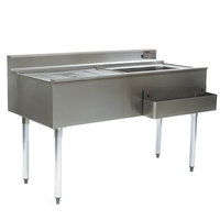 Eagle Group CWS4-18R 48 inch Underbar Work Station with Right Mount Ice Bin and Drain Board