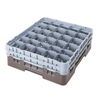 Cambro 30S800167 Brown Camrack 30 Compartment 8 1/2 inch Glass Rack