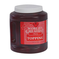Gold Medal 5138 World's Greatest Cherry Ice Cream Topping 3 - 76 oz. Jars / Case