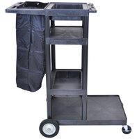 Luxor / H. Wilson JCB40 Four Shelf Janitor Cart Heavy Duty