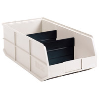 Metro MB30348T Tan Stack Bin with Two Dividers - 20 1/2 inch x 8 inch x 7 inch