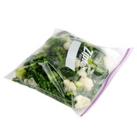 Diversey Ziploc 10 9/16 inch x 10 3/4 inch One Gallon Freezer Bag with Double Zipper and Write-On Label - 250/Case