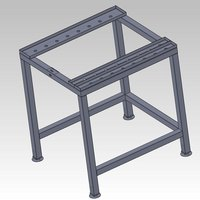 Alto-Shaam 5007698 Stationary Stainless Steel Stand for 6-10ESG, 6-10ESiN, 10-10ESG, and 10-10ESiN Combitherm Combi Ovens - Stacking