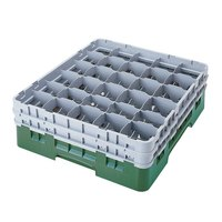 Cambro 30S318119 Sherwood Green Camrack 30 Compartment 3 5/8 inch Glass Rack