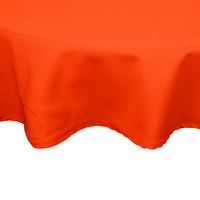 54 inch Orange Round Hemmed Polyspun Cloth Table Cover