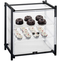 Cal-Mil 1145-S-13 One by One Three Tier Black Display Case with Front Doors - 20 1/2 inch x 17 inch x 22 inch