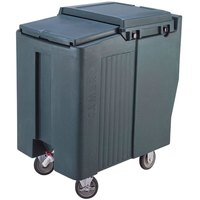 Cambro ICS125T191 Granite Gray Sliding Lid Portable Ice Bin - 125 lb. Capacity Tall Model