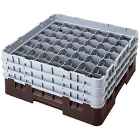 Cambro 49S958167 Brown Camrack 49 Compartment 10 1/8 inch Glass Rack