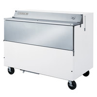 Beverage Air SMF58-W-02 White Exterior with Stainless Steel Interior Forced Air Milk Cooler 1 Sided - 58 inch