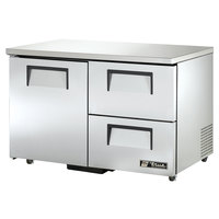 True TUC-48D-2-ADA 48 inch Deep ADA Compliant Undercounter Refrigerator with One Door and Two Drawers
