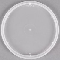 4 9/16 inch Microwavable Translucent Plastic Round Deli Container Lid - 48/Pack