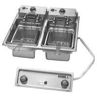 Wells F-686 30 lb. Built-In Dual Pot Autolift Electric Countertop Fryer - 9200W