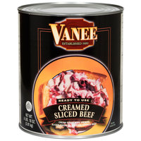 Vanee 490GK Creamed Sliced Beef - #10 Can