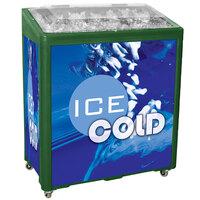 Green SS Freeze Jr. 2080 Mobile 90 qt. Cooler Merchandiser