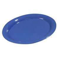 Carlisle Durus 13 1/2 inch 4308014 Ocean Blue Oval Melamine Platter - 12/Case