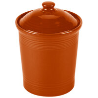 Homer Laughlin 571334 Fiesta Paprika Small 1 Qt. Canister with Cover - 2/Case