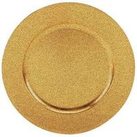 Tabletop Classics TRG-6695 13 inch Speckled Gold Round Acrylic Charger Plate