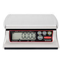 Rubbermaid 1812595 Pelouze 12 lb. Premium Stainless Steel Digital Portion Control Scale - Dishwasher Safe