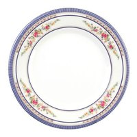 Rose 12 5/8 inch Round Melamine Plate - 12/Pack