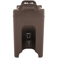 Carlisle XT250001 Cateraide 2.5 Gallon Brown Insulated Beverage Dispenser