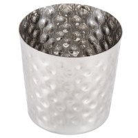 American Metalcraft FFHM37 3 3/8 inch Hammered Stainless Steel French Fry Cup