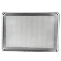 Advance Tabco 18-8P-26 Perforated Full Size 18 Gauge Aluminum Sheet Pan - Wire in Rim, 18 inch x 26 inch