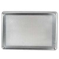 "Advance Tabco 18-8P-26 Perforated Full Size 18 Gauge Aluminum Sheet Pan - Wire in Rim, 18"" x 26"""