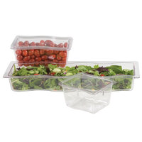 Carlisle 699007 Modular Displayware 1/2 Size Long Clear Straight Edge Food Pan - 6/Case