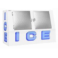 Polar Temp VT400CW Cold Wall Low Profile Outdoor Ice Merchandiser - 40 cu. ft.