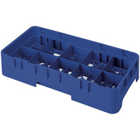 Cambro 10HS958186 Navy Blue Camrack 10 Compartment 10 1/8 inch Half Size Glass Rack