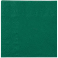 Hoffmaster 180337 Hunter Green Beverage / Cocktail Napkin - 1000/Case