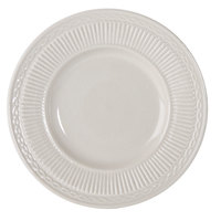 Embossed Rim American White (Ivory / Eggshell) 7 inch China Plate - 36 / Case