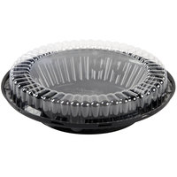 D&W Fine Pack J44 10 inch Black Pie Take Out Container with Clear Low Dome Lid - 20/Pack