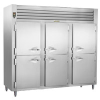Traulsen RHT332NPUT-HHS Stainless Steel 73.1 Cu. Ft. Three Section Solid Half Door Narrow Pass-Through Refrigerator - Specification Line