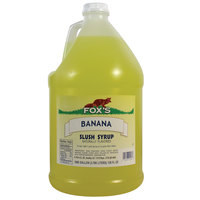 Fox's Banana Slush Syrup - (4) 1 Gallon Containers / Case